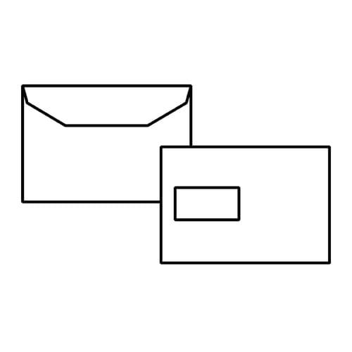 EBB Envelope White C5+ PLUS Mailing Wallet 162X235 90gsm Window Gummed