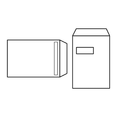 EBB Envelope White C4 Pocket 324X229 100gsm Window Self Seal