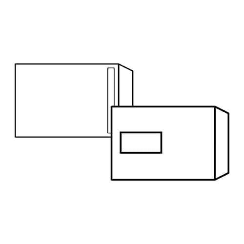 EBB Envelope White C5 Pocket 229X162 90gsm Window Self Seal