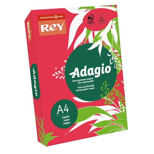 Adagio Red 160g A4 - Box of 5 Reams