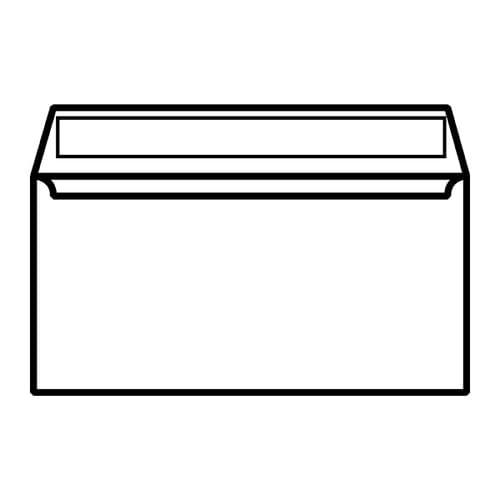 EBB Envelope White DL Wallet 110X220 100gsm Peel & Seal 23882