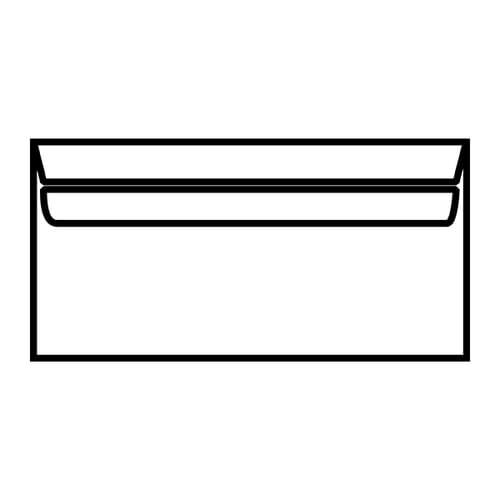 EBB Envelope White DL Wallet 110X220 90gsm Self Seal 13882