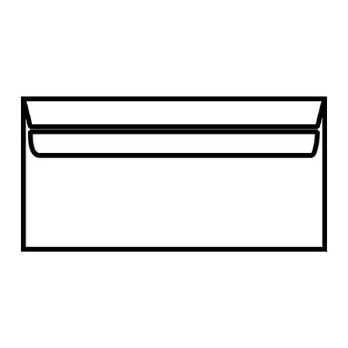 EBB Envelope White DL Wallet 110X220 80gsm Self Seal 12882