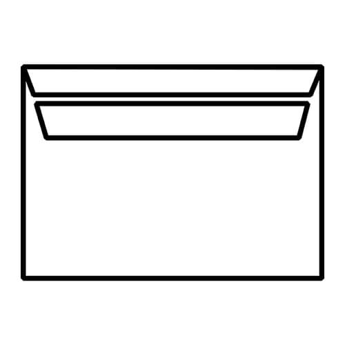 EBB Envelope White C5 Wallet 162X229 90gsm Self Seal