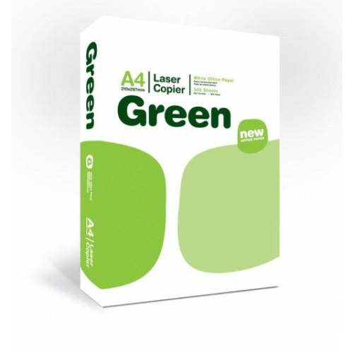 Green Laser Copier Paper A4 - Box of 5 Reams