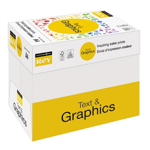 Rey Text & Graphics 160gsm A3 - Box of 5 Reams
