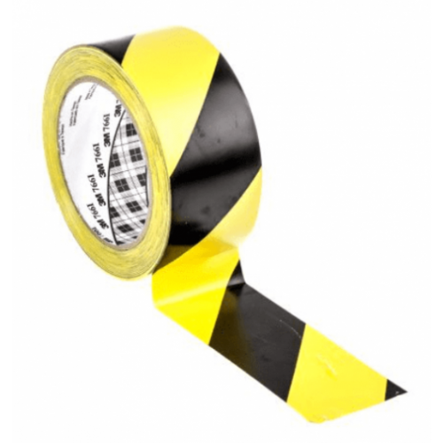 3M 766I High Quality Durable Hazard Tape Black/Yellow