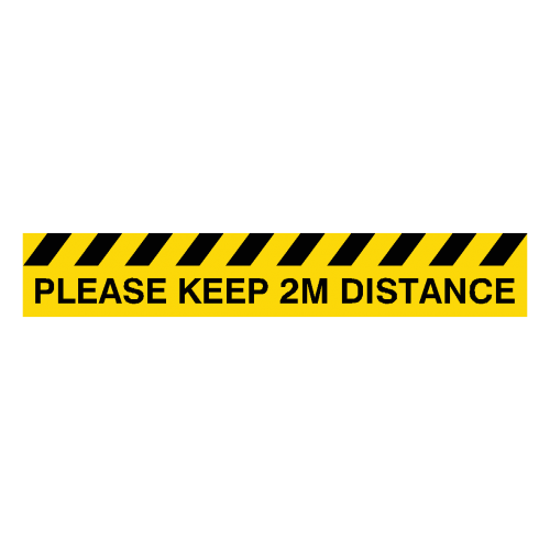 Please Keep 2M Distance Floor Graphics Strip (600mm x 100mm)