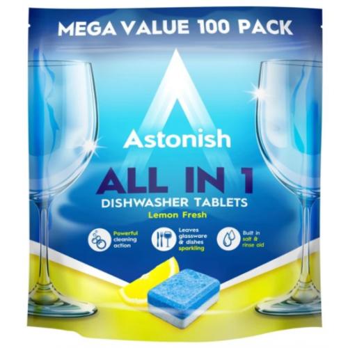 Astonish Original Dishwasher Tablets Ref MDT100PF [Pack 100]