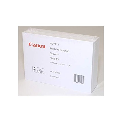 Canon Red Label White A5 Paper 80gsm 500 sheets