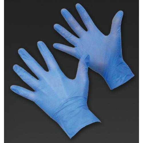100 Gloves Extra Large Size Blue Vynite Powder Free (Box 100)