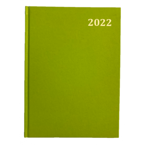 Desk Diary Week To View A5 Lime Green 2022