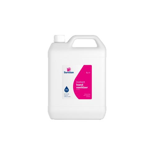 Hand Sanitiser 5 Litre Bottle 70% Alcohol Conforms to EN14476 & EN1276:2019