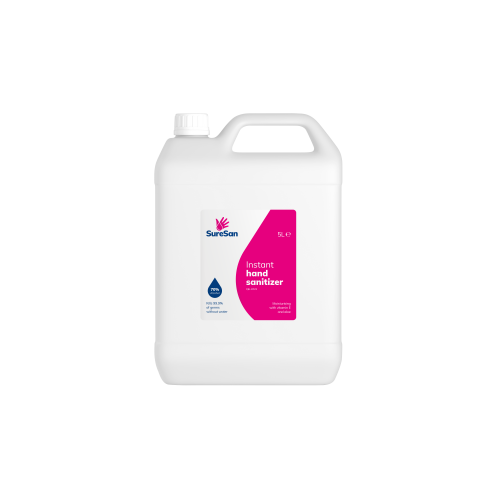 Hand Sanitiser 5 Litre Bottle 70% Alcohol with FREE Pump Dispenser
