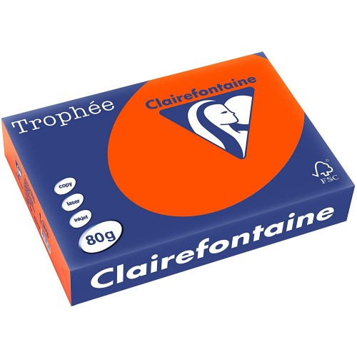 TROPHEE TINTS Intensive Orange 80gsm 210x297mm (1873) A4 (pack 500 sheets)