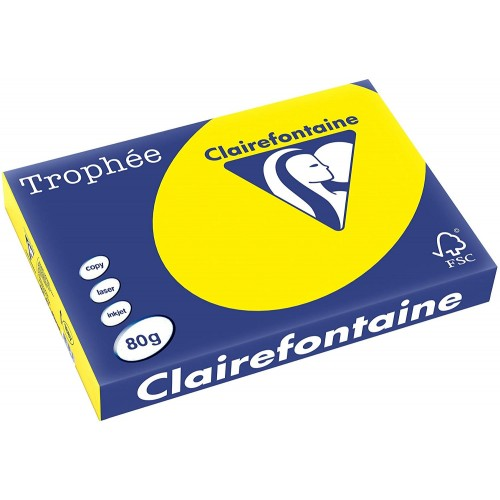 TROPHEE TINTS Intensive Yellow 80gsm 210x297mm (1877) A4 (pack 500 sheets)
