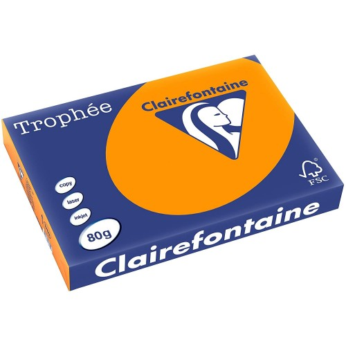 TROPHEE TINTS Orange 80gsm 210x297mm (1878) A4 (pack 500 sheets)