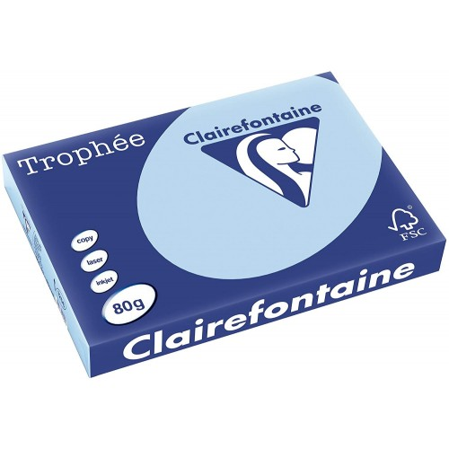 TROPHEE TINTS Sky Blue 80gsm 210x297mm (1798) A4 (pack 500 sheets)