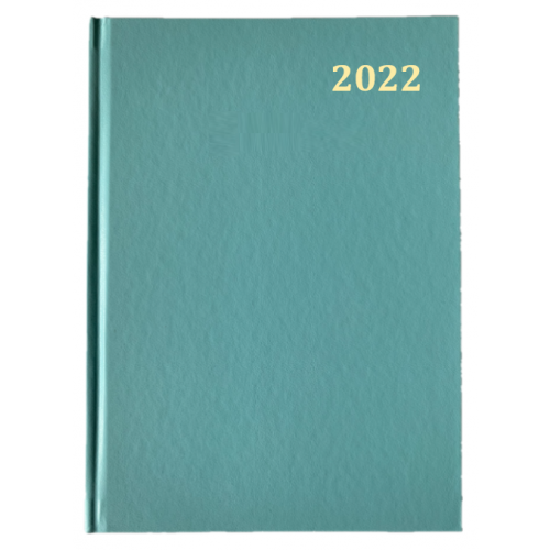 Desk Diary Week To View A5 Turquoise 2022
