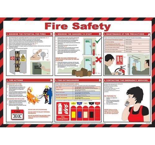 Fire Safety  59x42cm Poster