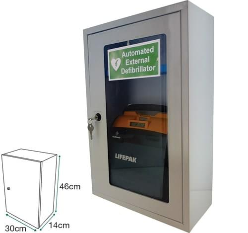 Clear Door AED Cabinet & Key Lock