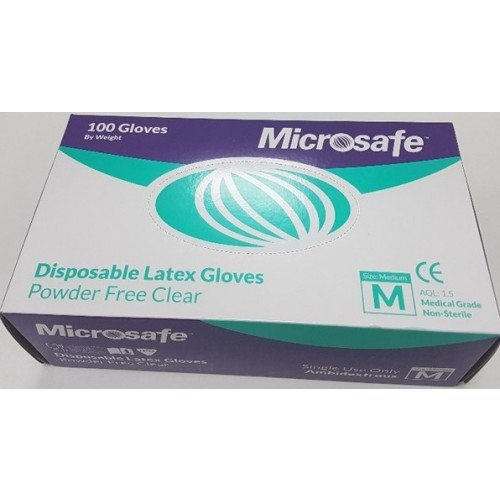 Latex Gloves 100's Powder Free Medium VAT EXEMPT