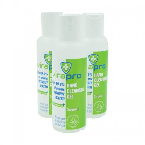 ViraPro 100ml Alcohol Gel Hand Sanitiser 70% Alc.
