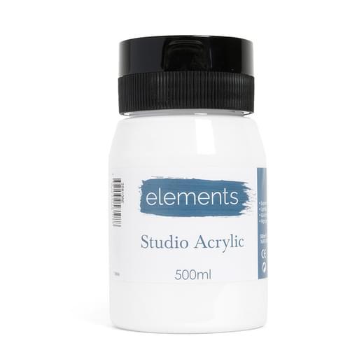 Elements 500ml Acrylic Titanium White