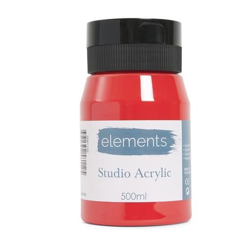 Elements 500ml Acrylic Cadmium Red