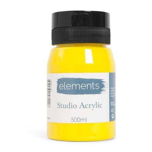 Elements 500ml Acrylic Medium Yellow