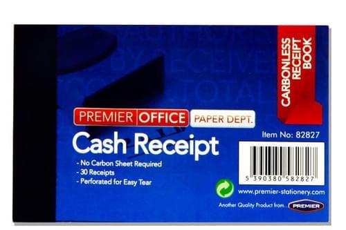 """Premier Office 4""""X2.5"""" Carbonless  Duplicate Cash Receipt Book"""