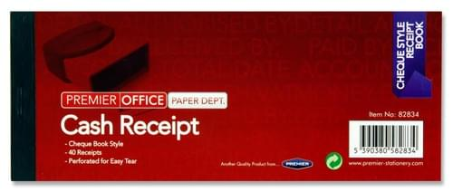 "Premier Office 3""X8"" Cash Receipt Book"