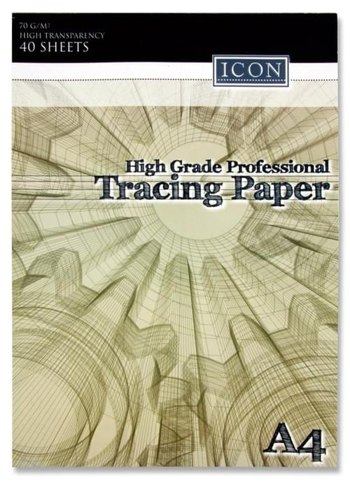 Icon A4 70Gsm Professional Tracing Paper Pad 40 Sheets