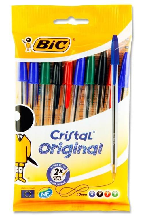 Bic Pack of 10 Cristal Ballpoint Pens - Original