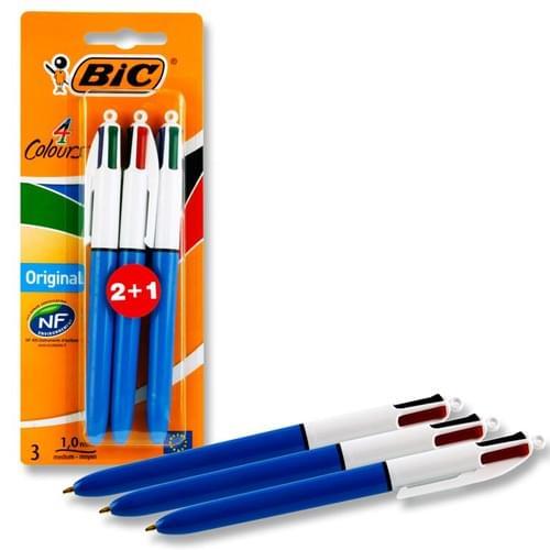 Bic Card 2+1 4 Colour Retractable Biro
