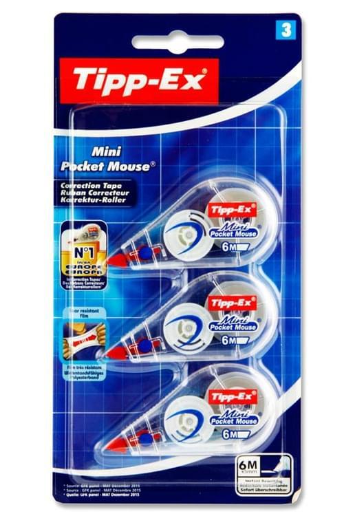 Tippex Card 3X6M Mini Pocket Mouse