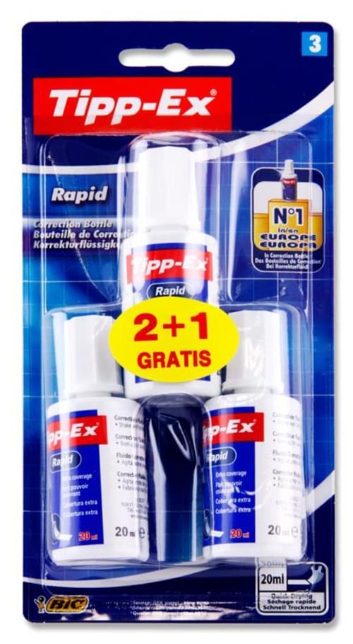 Tippex Card 2+1 20Ml Rapid Fluid - Sponge