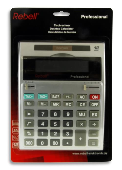 12 Digit Dual Power Calculator