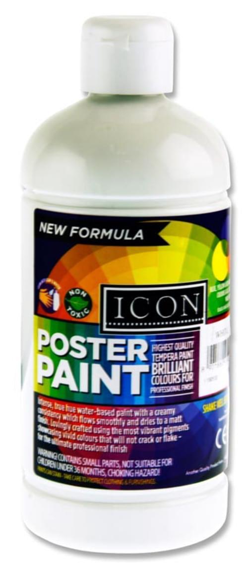 Icon Poster Paint 500Ml - White