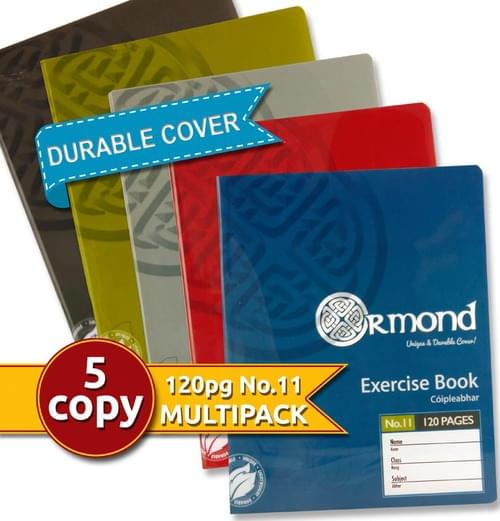 Ormond Pack of 5 No.11 120Pg Durable Cover Copy Books - Boys