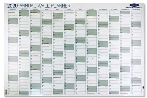 Premier Universal 2020 Annual Wall Planner