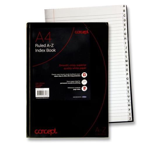 Concept A4 192Pg A-Z Index Book