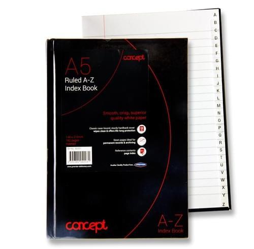 Concept A5 192Pg A-Z Index Book