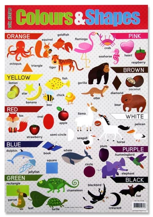 Clever Kidz Wall Chart - Colours & Shapes