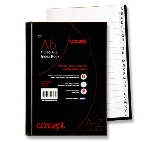 Concept A6 192Pg A-Z Index Book