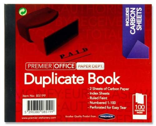 "Premier Office 4""X5"" 100 Sheet Duplicate Book"