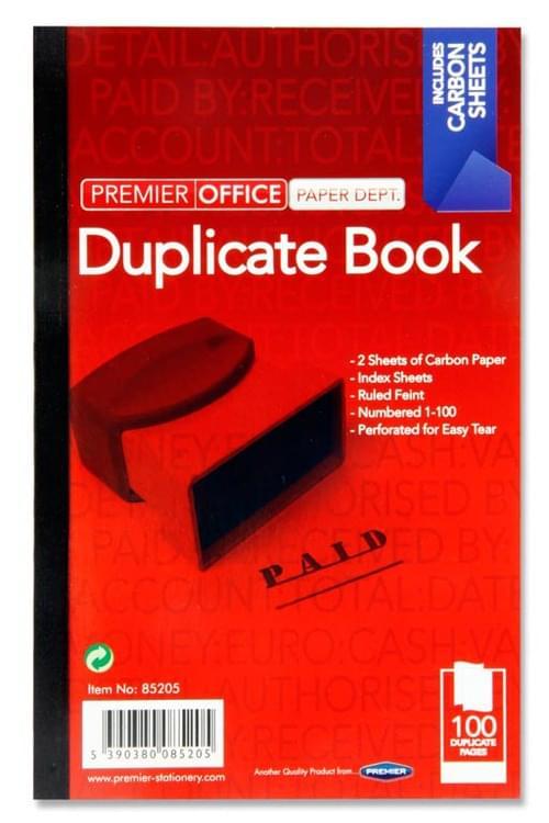 "Premier Office 8""X5"" Duplicate Book 100 Sheets"