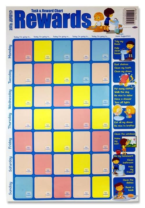 Clever Kidz Wall Chart - Task & Reward Chart