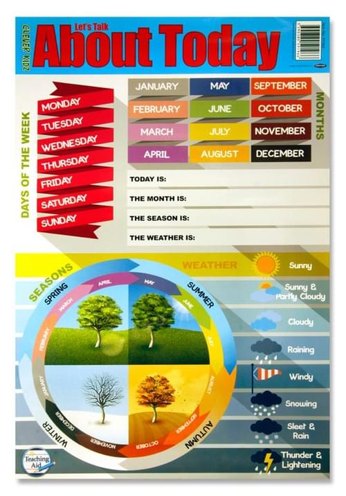 Clever Kidz Wall Chart - Weather