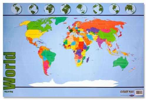 Clever Kidz Wall Chart - Map Of The World